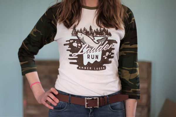 Ladder Run 3/4 Camo Print Shirt