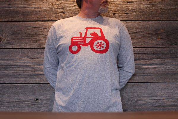 long sleeve grey front