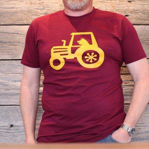 t-shirt clark maroon front